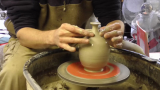 Throwing a simple pottery salt pot on the wheel