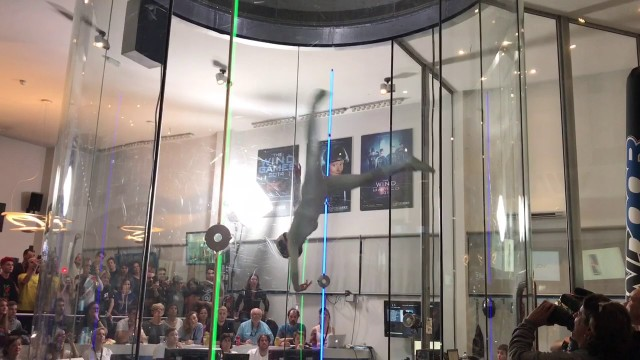 Incredible indoor skydiving flyers at the 2017 Wind Games