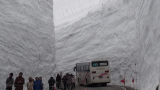 Yukino-otani, the huge snow walls of the Tateyama Snow Corridor