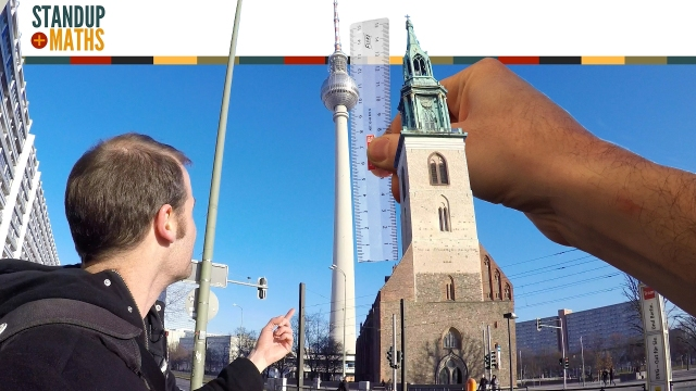 Measuring the Berlin TV Tower with a ruler