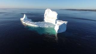 A giant iceberg runs aground in Newfoundland's Iceberg Alley