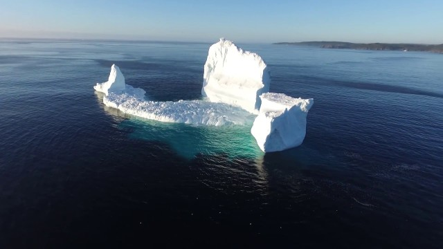 A giant iceberg runs aground in Newfoundland's Iceberg Alley