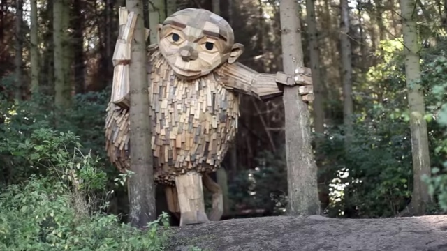 Six Forgotten Giants, Copenhagen's hidden scrap wood sculptures