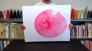 Un sedicesimo n°44, crushed plastic balloons on paper