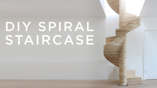 Building a DIY CNC-cut spiral staircase