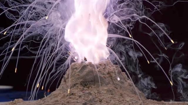 Humphry Davy's Potassium Volcano