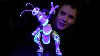 A glow-in-the-dark bug puppet by Barnaby Dixon