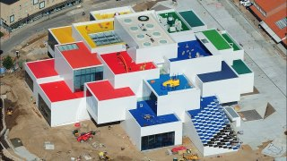 Drone footage of LEGO House, Denmark's new LEGO visitor center