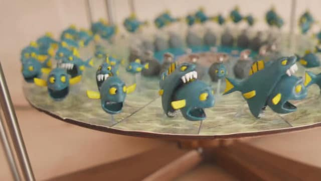 4-Mation 3D Zoetropes: Fish Eating Fish and Jumping Frogs