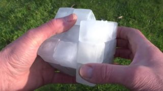 A fully functioning Rubik's Cube made from real ice