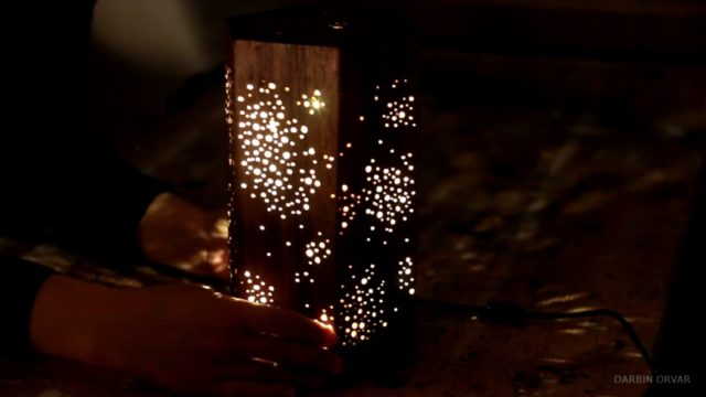 How to make a hexagonal starry sky LED night light