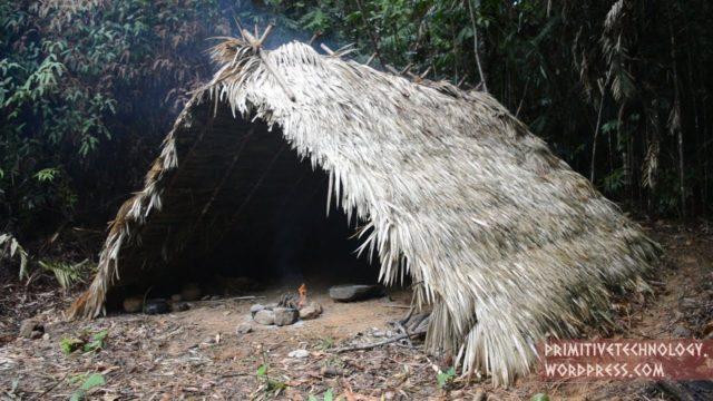 Making a celt hatchet and an A-frame hut – Primitive Technology