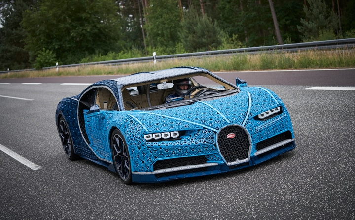 A Life Size Drivable Lego Technic Bugatti Chiron With Over 1000000