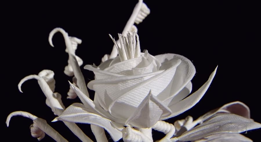 Paper flower artist Arnold Drake World